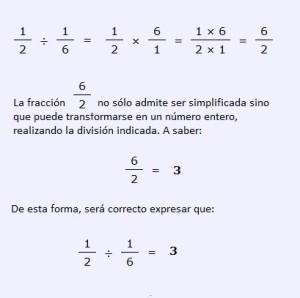 Ejemplo de division de fracciones