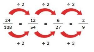 ejemplo simplificacion fracciones