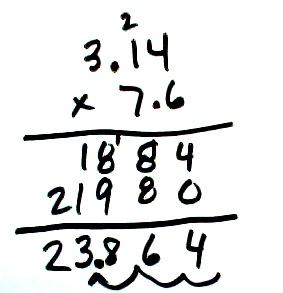multiplicacion decimales