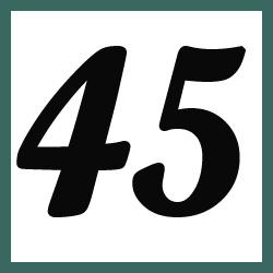 Múltiplos de 45