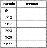 ejercicio fracciones y decimales