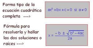 formula cuadratica