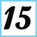 Múltiplos de 15