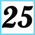 Múltiplos de 25