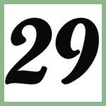 Múltiplos de 29