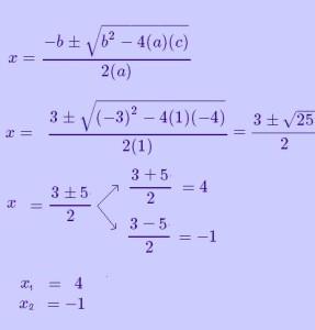 soluciones ecuacion cuadratica 1