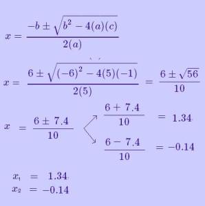 soluciones ecuacion cuadratica 2