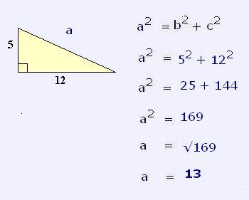 resoluci243n de tri225ngulos con teorema de pit225goras