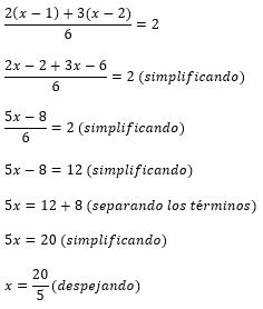 Ecuaciones de primer grado resueltas 5