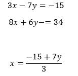 Métodos para resolver sistemas de ecuaciones 4