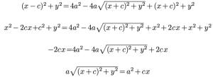 Ecuación de la elipse 3