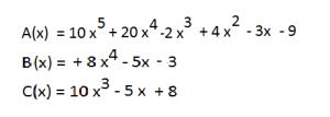 suma de polinomios ordenados