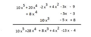 suma de polinomios resuelta