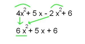 terminos semejantes polinomio