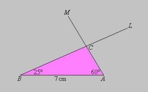1er caso construccion de triangulos