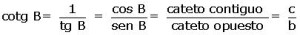Cotangente fórmula