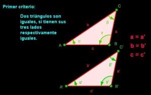 primer  criterio igualdad de triangulos