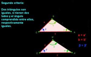 segundo criterio igualdad de triangulos