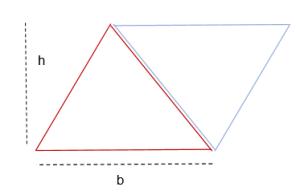Fórmula de área de un triángulo 2