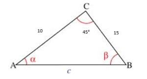 Teorema del coseno ejemplos 1