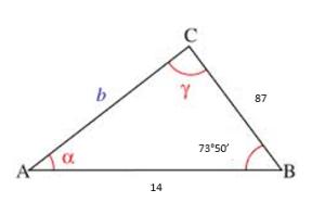 Teorema del coseno ejemplos 2