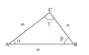Teorema del coseno ejemplos 3