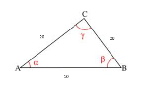 Teorema del coseno ejemplos 4