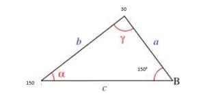ley del coseno ejemplos 2