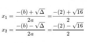 ecuacion cuadratica resuelta