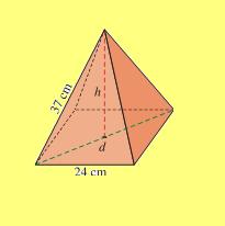piramide base cuadrada